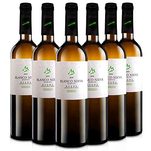 Martúe Blanco Nieva Verdejo Vino Blanco D.O. Rueda - 6 Botellas x 750 ml (2019, 6)