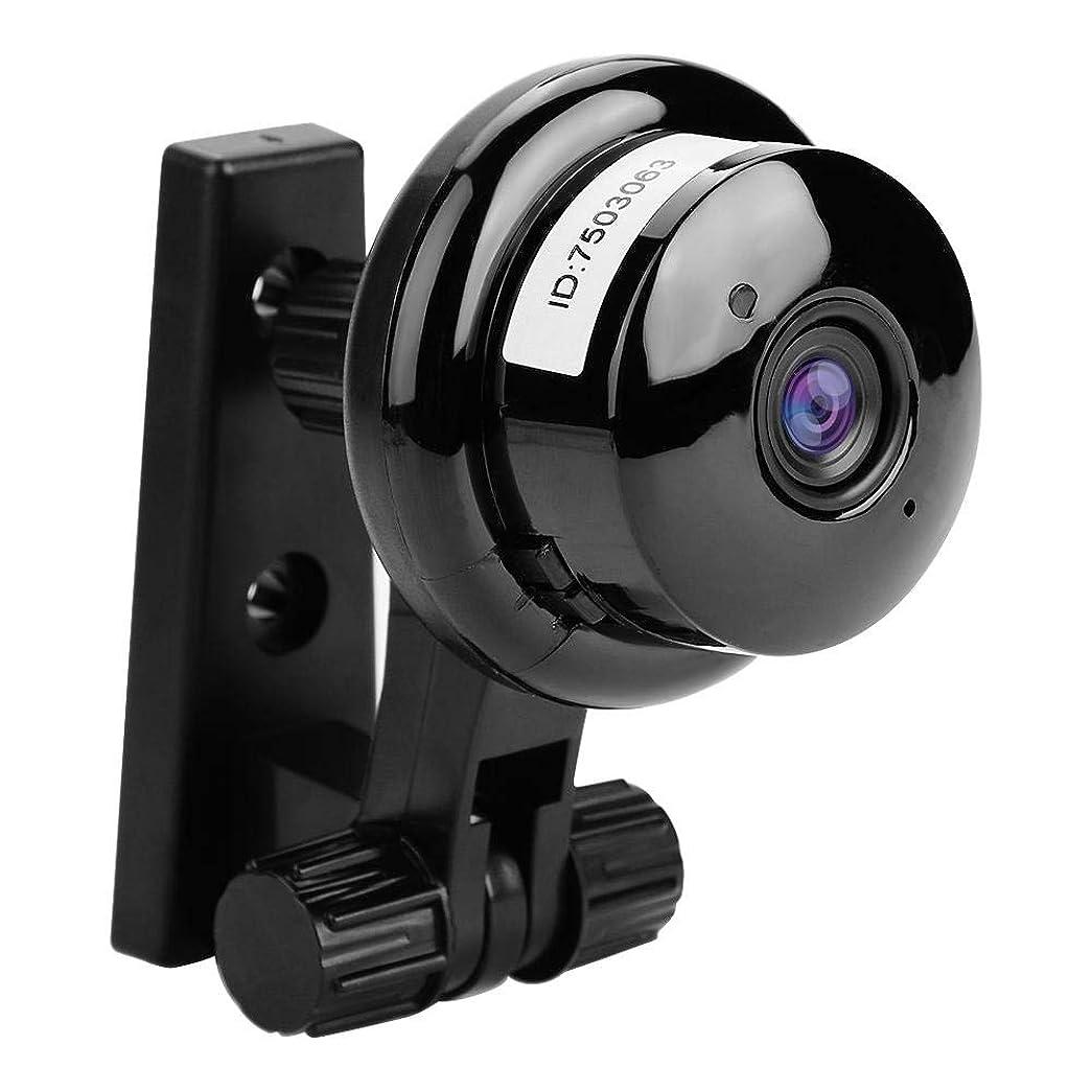 テーマ上無駄なワイヤレスIPカメラ FosaポータブルミニWifiカメラ 720 p HD動き検出ナイトビジョンWifiワイヤレスIPカメラ サポート双方向音声監視 ショップ、工場倉庫、ホームなどに対応(ブラック 3.6mm 75°)