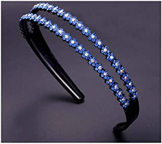 Headband Crystal Hairhoop Non-slip Teeth Hairband Hair Accessories for Women #9