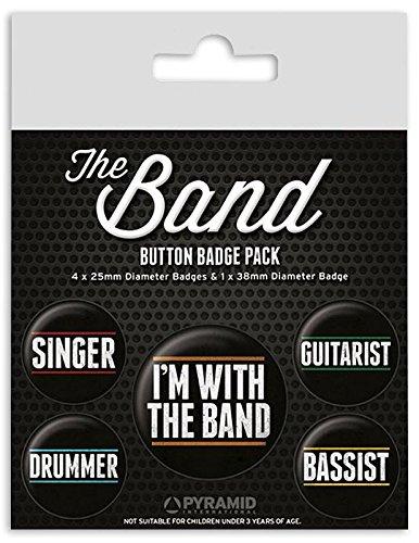 Close Up Set de 5 pins The Band