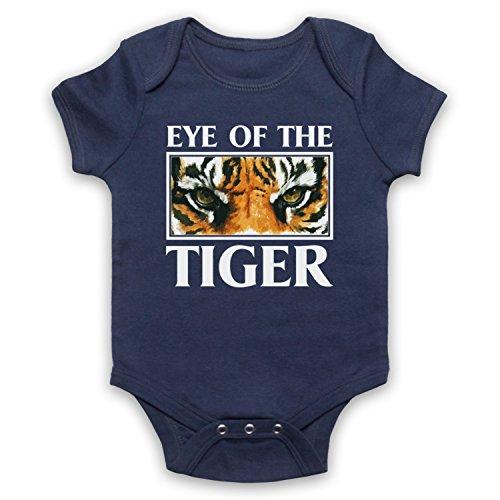 Inspirado por Rocky Survivor Eye Of The Tiger No Oficial Bebé Body, Azul Marino, 6-12 Meses