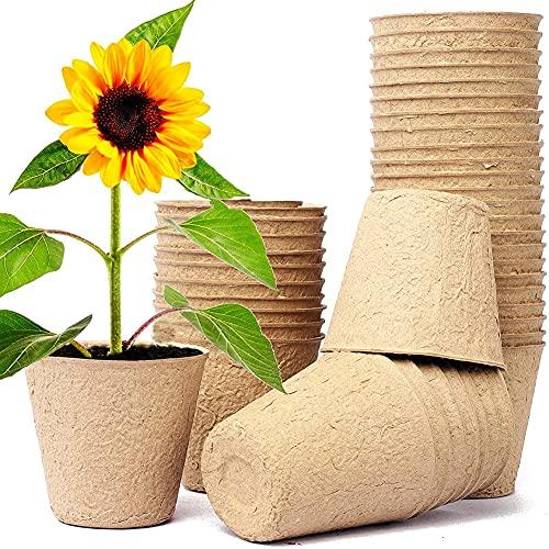 Maceta Ecológica, Biodegradables para Plantas, Seguro y Transpirable Puede Crear un Entorno...