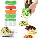 Spiralschneider, 3-Klingen Gemüse Spiralschneider mit dem man endlos Spaghetti Nudeln fertigen kann,…