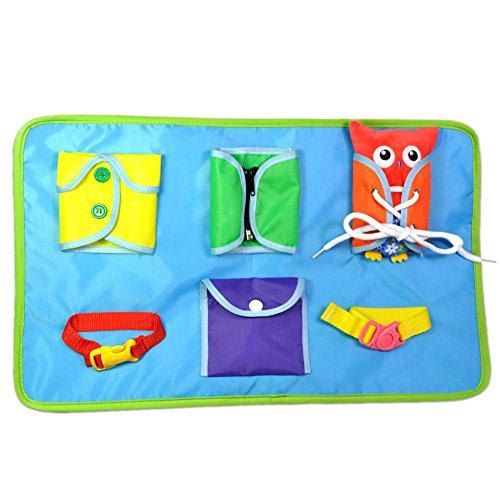 funnyfeng Montessori Lerntafeln Materialien Lernspielzeug Zum Lernen Dressing Weichen Tuch Tische Eule Kleiderschrank Spielzeug Früherziehung Baby Pädagogisches Tuch