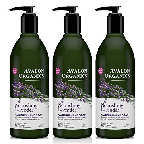 Avalon Organics - Glycerin Hand Soap Lavender - 12 Ounces (Pack of 3)