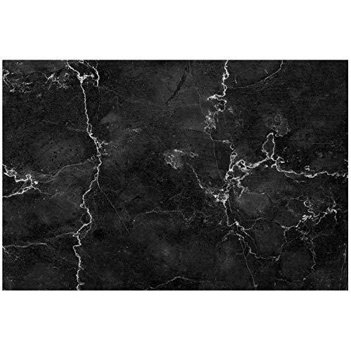 Küchen-Rückwand Spritzschutz I Dekor Marmor schwarz I 60 x 40 x 0.3 cm I Stilvoll edel I Fliesenschutz für den Herd und Spüle | Küche Zubehör | Arbeitsplatte I Fliesenspiegel I Aluverbund I dv_791