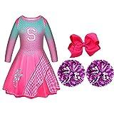 Disfraz de Addison de Zombies 2 Cheerleader Vestido Rosa para Niños Pequeños Disfraz de Cosplay de Halloween para Mujeres y Niñas