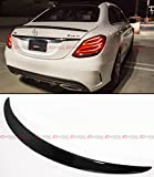 Cuztom Tuning Fits for 2015-2020 Mercedes Benz W205 C300 C400 C450 C43 4MATIC AMG Style Carbon Fiber Accent Rear Trunk Spoiler Wing