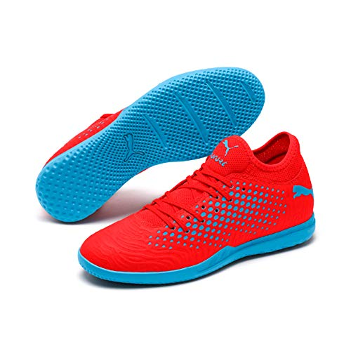 PUMA Herren Future 19.4 IT Multisport Indoor Schuhe, Rot (Red Blast-Bleu Azur), 44 EU