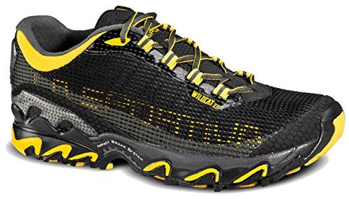 La Sportiva Wildcat 3.0 Trail Running Shoe - Men's Black/Yellow 43.5