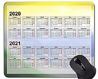 2020カレンダーカスタムオリジナルマウスパッド、ソリッドバックグラウンドテーマラバーマウスパッド