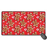 liulishuan Large Gaming Mouse Pad/Mat, Gingerbread Cookies Candies Mousepad with Non-Slip Rubber Base for Computers Laptop, Durable Stitched Edges New15