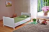 BABY Gitterbett Babybett Kinderbett mit Aloe Vera Schaumstoffmatratze Zahnschienen höhenverstellbar Weiß umbaubar zum Juniorbett - 7