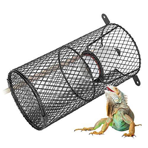 Labuduo Pantalla de Reptil, Pantalla de Reptil Anti escaldaduras, Soporte de lámpara de Hilo de cerámica portátil para Mascota Serpiente(220, European Standard)