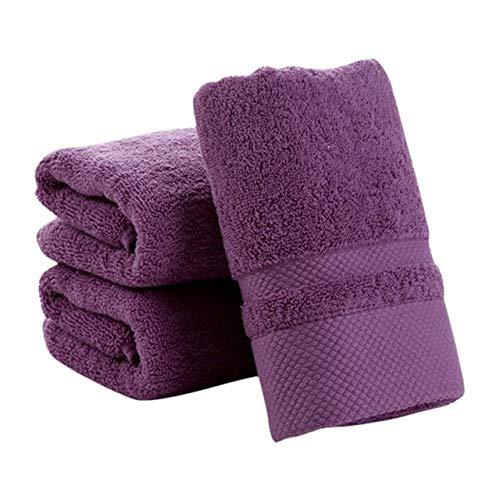 GUYUE Toallas de baño Toalla de Cara de Color sólido 100% algodón, Mano Suave y Gruesa, para baño y baño (Color : ZR, Size : États-UNIS)