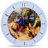 Mark Feldstein & Associates Beauty and The Beast Disney Kinkade Falling in Love Blue 12 inch Glass Round Wall Clock