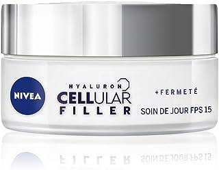 NIVEA Hyaluron Cellular Filler Soin de jour +Fermeté FPS15 (1x50ml), crème anti-âge enrichie en Magnolia & Acide Hyaluroni...
