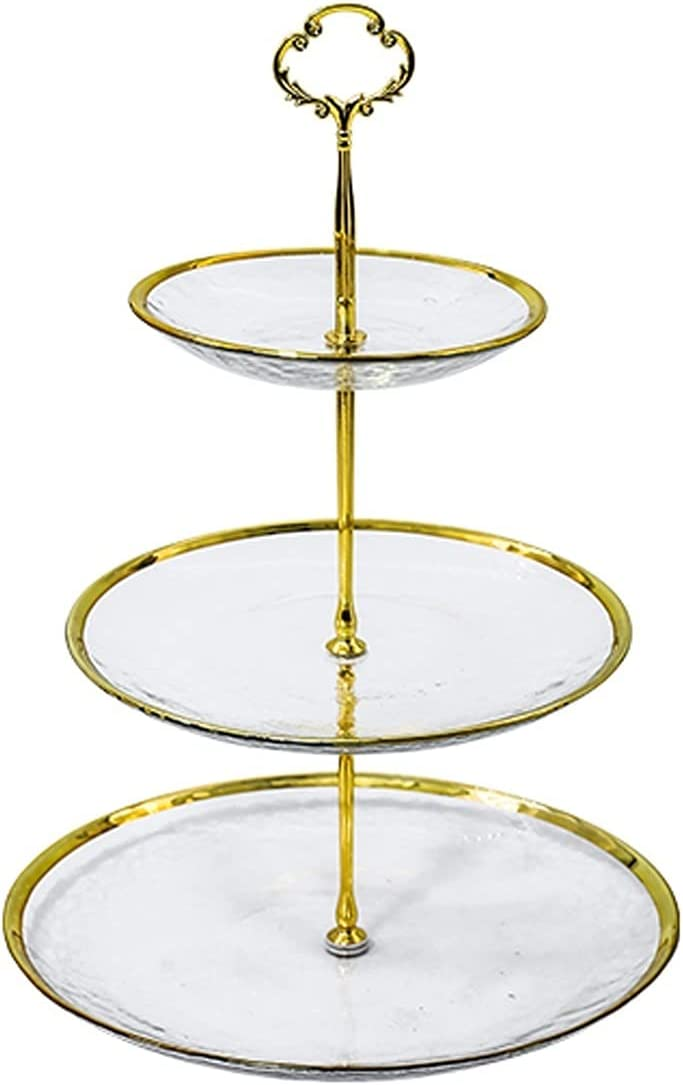 Bombing free shipping Max 60% OFF Cake Plate Stand Three-layer Detachable Display
