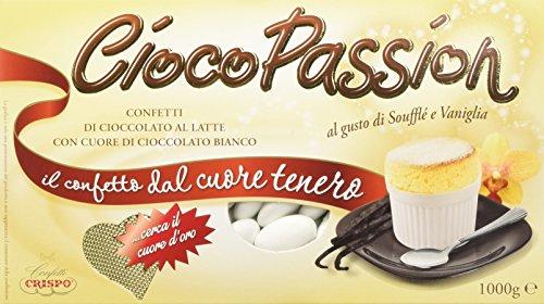 Crispo Confetti Cioco Passion Soufflè e Vaniglia - Colore Bianco - 3 confezioni da 1 kg [3 kg]
