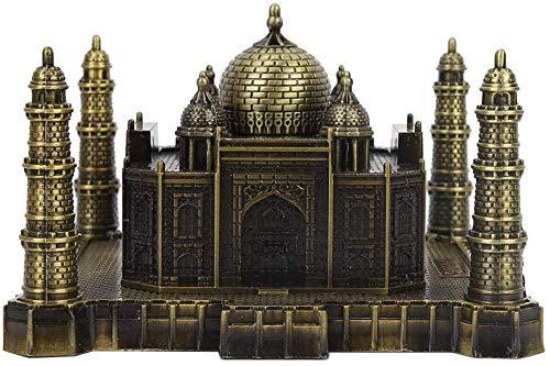 FTVOGUE India Taj Mahal Metal Model Crafts World Landmark Building Creative Taj Mahal Ornaments Tourist Souvenirs (Bronze)