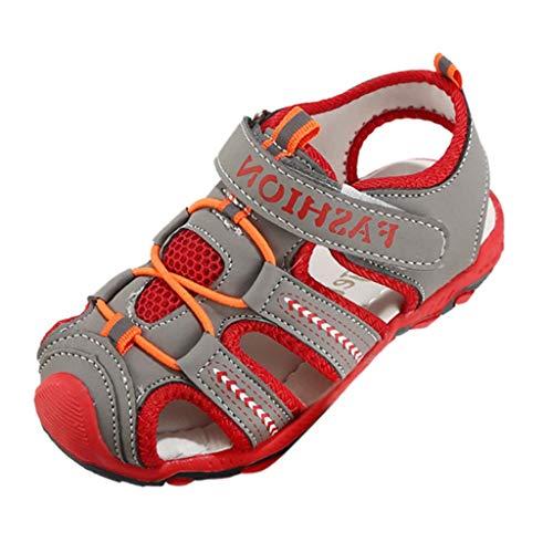 Sandalias de Punta Descubierta para Bebés,ZARLLE Sandalias Punta Cerrada para Niños,niña Suela es Muy Flexible Sandalias Suave Sandalias de Cuero para Niño Anti-Deslizante