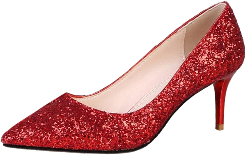 FANIMILA Women High Heel Pumps shoes