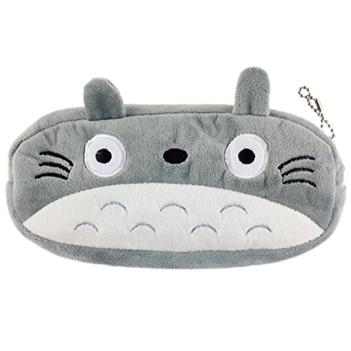 Ogrmar Cute Plush Pencil Bag Pencil Case Pencil Pouch (Grey)