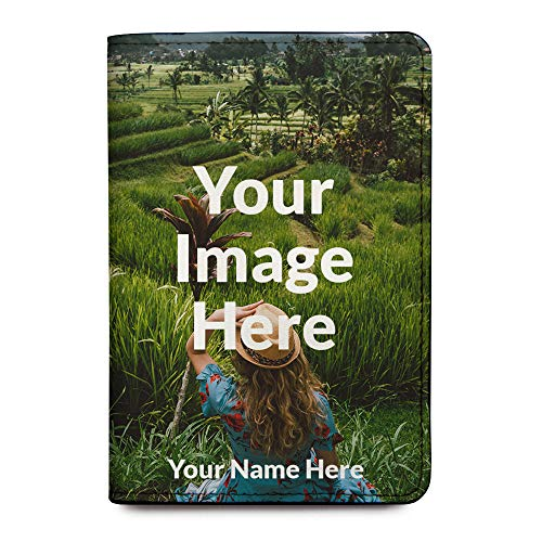 Personalized RFID Passport Holder Cover - Travel Wallet - Upload Your Image