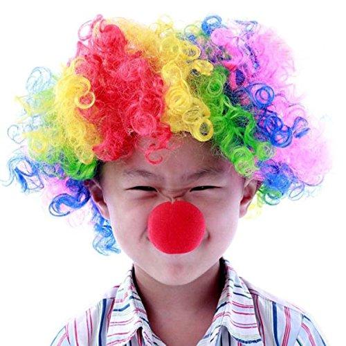 Pixnor Balle en mousse rouge 25pcs boules de nez de Clown pour activité de fête Halloween Carnaval Costume de mariage