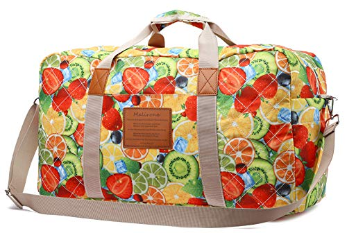 Malirona Canvas Weekender Bag Travel Duffel Bag for Weekend Overnight Trip (FB246)