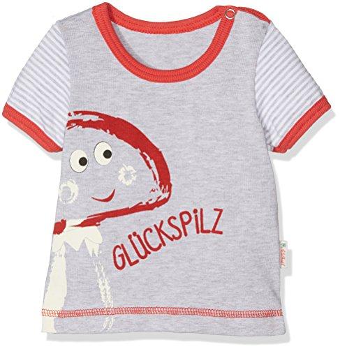 Adelheid Unisex Baby Glückspilz Bio Leibchen k. A. Albglück T-Shirt, Grau (mausgrau 940), 62 (Herstellergröße:62/68)