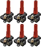 ENA Set of 6 Ignition Coil Pack Compatible with Subaru Outback Legacy Tribeca B9 Tribeca H6 3.0L 3.6L Replacement for C1326 UF287 UF-287
