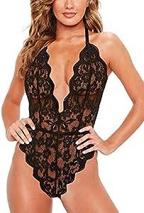 Tuopuda Mujer V Profundo de Encaje de Mujer Ropa Interior Ajustado Conjunto Ropa de Dormir Lenceria Mujer Sexy Conjuntos de Lencería