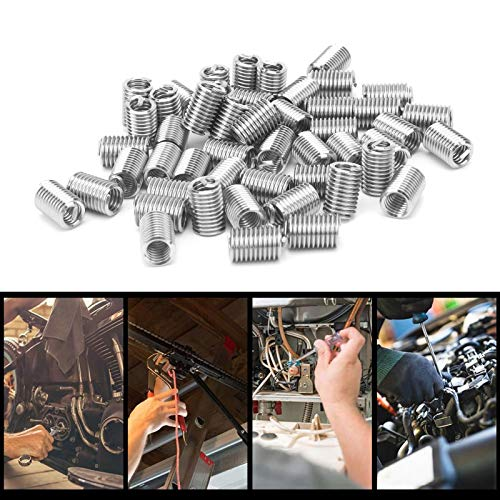 Thread Socket, 50Pcs Wire Thread Insert 1/4in‑20 for Industrial Supplies(2.5D)