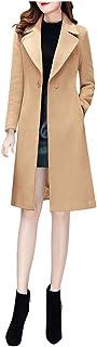 Women Cardigan Jacket Coat, Ladies Solid Long Sleeve Slim Windbreaker Double Breasted Long Trench Coat Overcoat