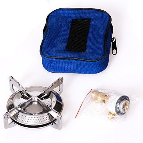 SXTSPO Estufa de camping portátil estufa de gas estufa de camping horno dividido para bidones de gas propano utensilios de cocina