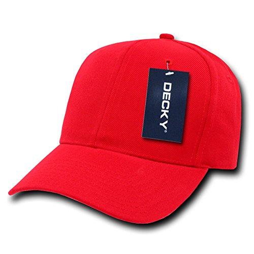 Plain Hats Uni Pro Chapeaux Casquette de Baseball, Homme, Pro, Red, n/a