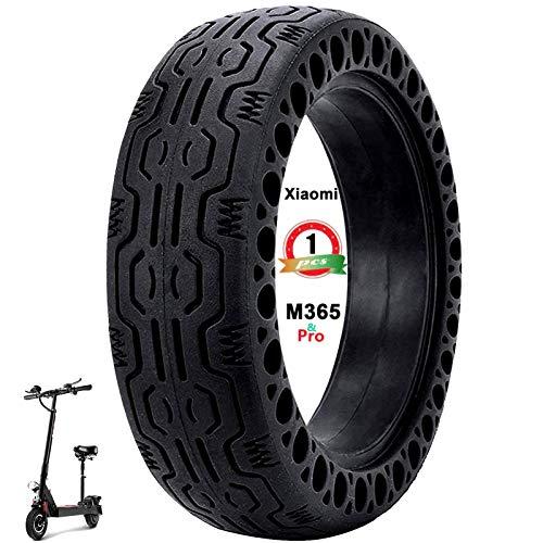 SGMY Neumático de fluorescents Rueda de Repuesto de 8,5 Pulgadas de células sólido 8 1/2X2 para Delantero/Trasero de neumáticos M365 Y Otros neumáticos de reemplazo de Scooter de 8.5 Pulgadas (Black)