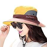 Minions Boutique, Cappello da Pesca Estivo Unisex, Impermeabile UPF 50 + Cappello da Sole Protezione dai Raggi UV, Tesa Larga, Bob Escursioni Outdoor H, Giallo