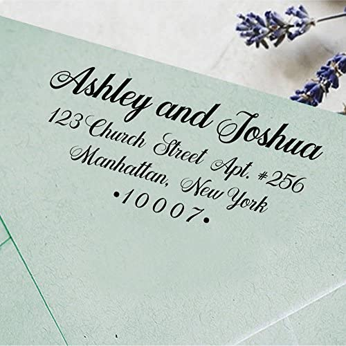 Custom Self Inking Wedding Stamp Personalized Family Address Rubber Stamp Custom Gift product image