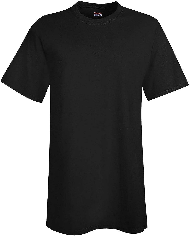 Hanes Men's Beefy-T Tall T-Shirt_Black_LT