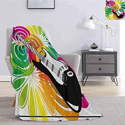 Popstar - Manta suave para sofá de cama, diseño floral abstracto colorido...