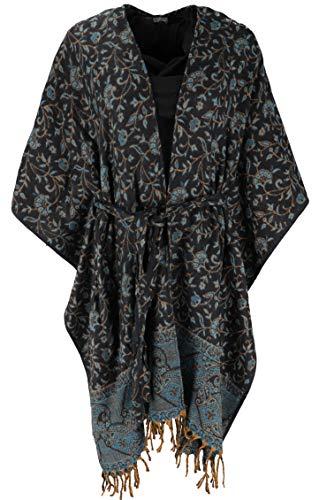 Guru-Shop, Pluizige Kimono Jas, Kimono Jurk, Caftan, Groen, Synthetisch, Size:14, Boho-jassen en -vesten