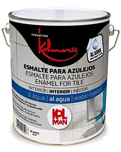 Kolmer - Esmalte al agua para azulejos 4 L Blanco