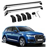 MotorFansClub Roof Rack Fit for Compatible with Audi Q7 2006-2016 Cross Bars Lockable Roof Top Rail Luggage Rack Carrier
