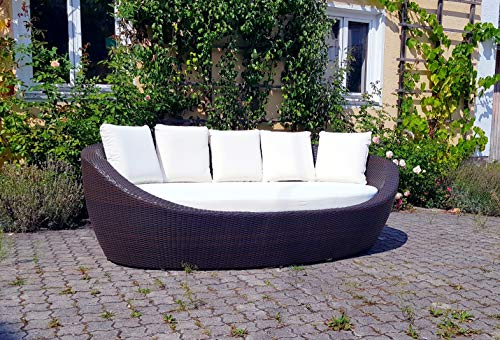 RATTANIA Relaxinsel Nest Mocca, Sonneninsel polyrattan, Sonneninsel Rattan, Lounge Insel, Gartenmuschel, Terrassen Lounge, Lounge Insel, Lounge Muschel,Daybed,RATTANIA Modell Nest 59-70210