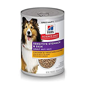 Hill's Science Diet Wet Dog Food, Adult, Sensitive Stomach & Skin