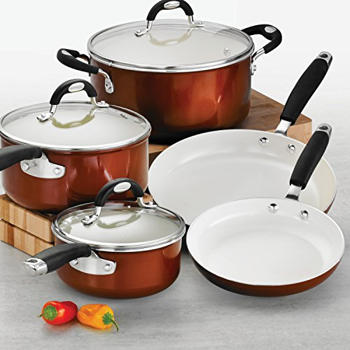 Tramontina 80110/220DS Style Ceramica_01 10 Piece Cookware Set