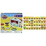 Play-Doh Horno Magico (Hasbro B9740EU4) + Mega Pack De 36, Botes (Hasbro 36834F03)