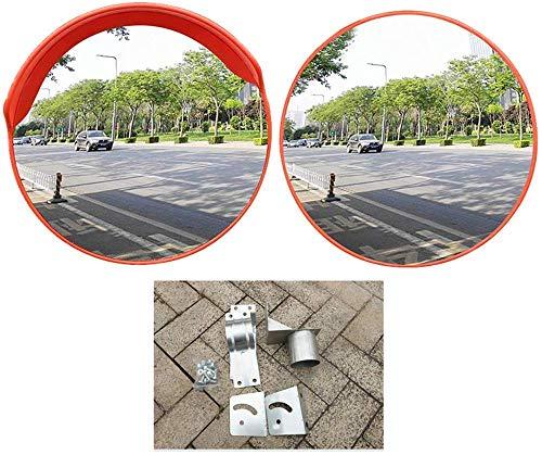 YWTT Konvexa säkerhetsspeglar vinklar murbruk, stora speglar HD vinkel akryl rund, grad, lager, parkering, väggmontering, utan lock